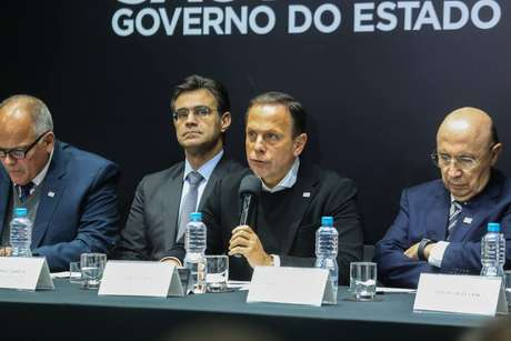 Governador João Doria (PSDB) durante entrevista coletiva no Palácio dos Bandeirantes