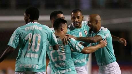 Palmeiras controlou a partida, como se acostumou a fazer, e achou o caminho pelas pontas (Cesar Greco/Palmeiras)