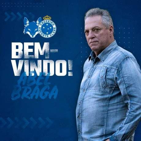 Abel Braga é anunciado pelo Cruzeiro.