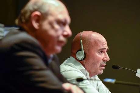 Presidente do Santos apoia Jorge Sampaoli e nega crise (Foto: Fernando Dantas/Gazeta Press)