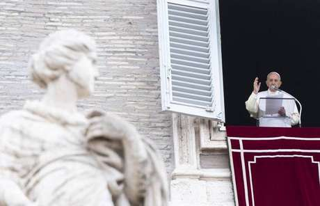 Papa Francisco durante celebração do Angelus, no Vaticano