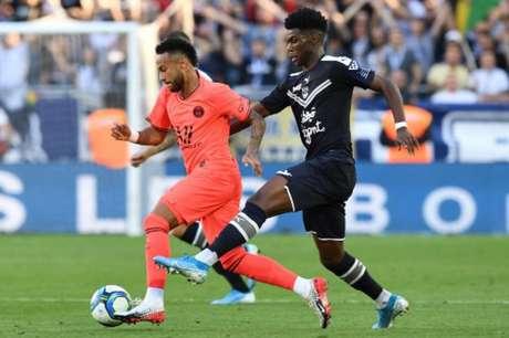 Neymar marcou o gol do PSG neste sábado pelo Campeonato Francês (MEHDI FEDOUACH/AFP)