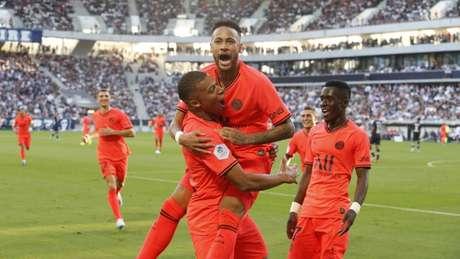 Camisa 10 marcou após assistência de Mbappé (Foto: Twitter/PSG)