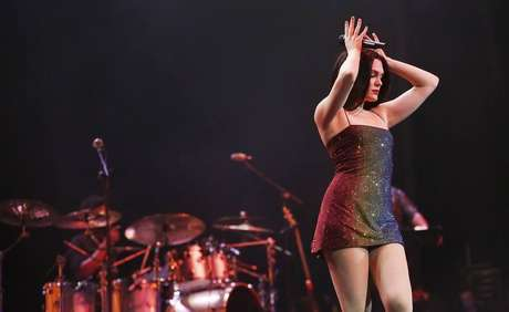 Jessie J em show no Espaço Américas, em São Paulo, em sua primeira apresentação no Brasil em 2019.