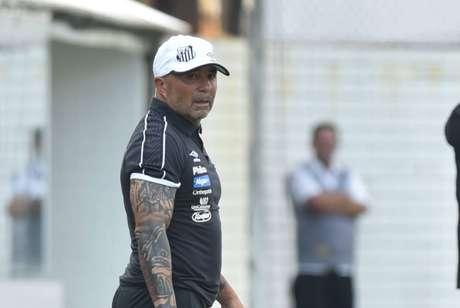 Sampaoli citou o caso da invasão da torcida do Fluminense (Foto: Ivan Storti/Santos)