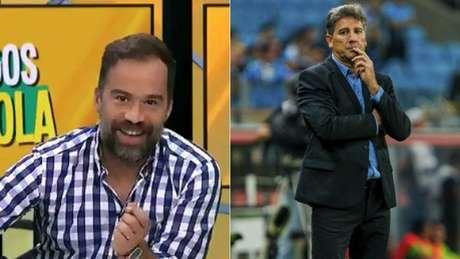 Comentaristas do programa Amigos da Bola (à esquerd.) ficaram conhecidos entre os torcedores do Fla (Montagem)
