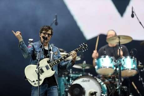 Banda Weezer tocou pela primeira vez no Brasil