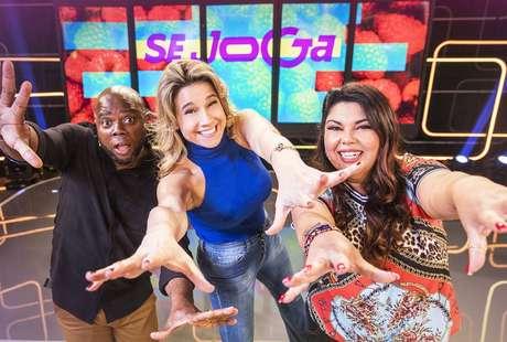 Érico Brás, Fernanda Gentil e Fabiana Karla, apresentadores do 'Se Joga', novo programa da Globo que estreia em 30 de setembro