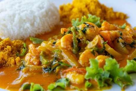 Moqueca de camarão é muito consumida no Maranhão e em todo Nordeste