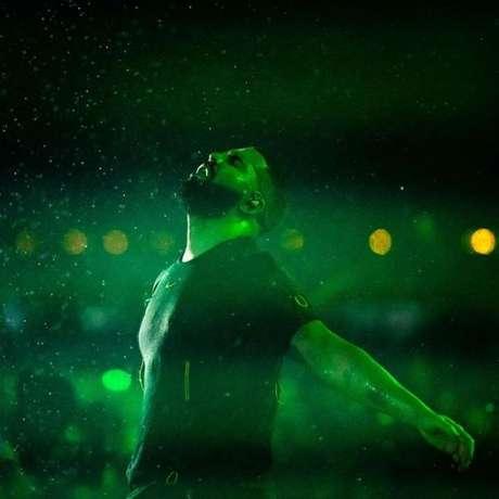Drake encarou o Rock in Rio debaixo de chuva, mas barrou transmissão do show (Foto/Instagram)