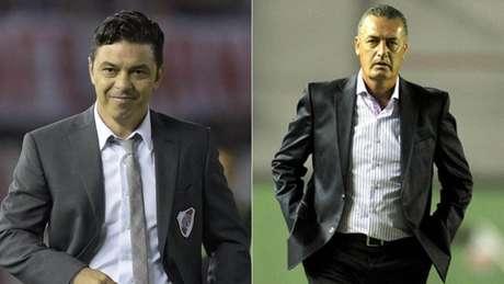 Marcelo Gallardo e Gustavo Alfaro comandam as equipes argentinas no clássico(AFP)