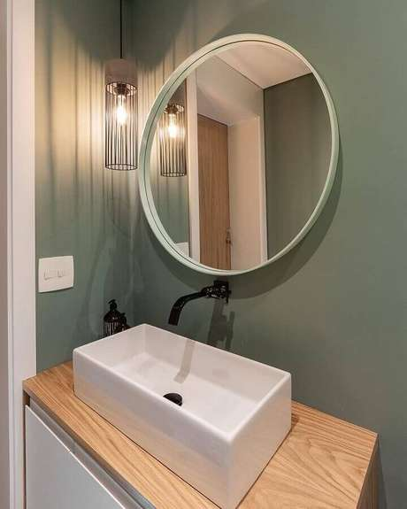 14. Para ambientes pequenos prefira tonalidades de verde mais claras – Foto: Duda Senna