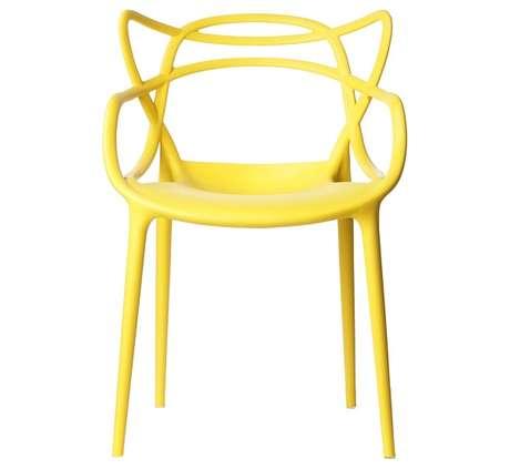 4. Modelo de cadeira allegra amarela. Fonte: Pinterest