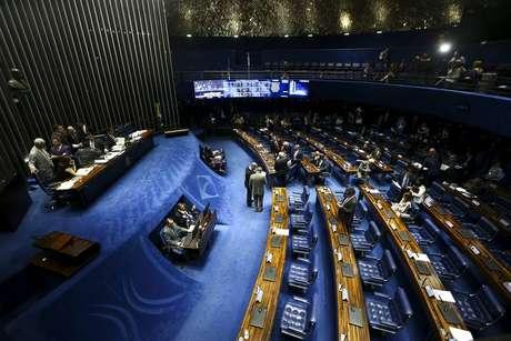 O plenário do Senado nesta quarta, 2
