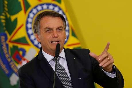 Presidente Bolsonaro durante cerimônia no Palácio do Planalto 03/09/2019 REUTERS/Adriano Machado