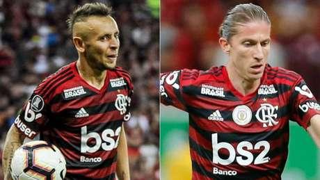Rafinha e Filipe Luis são nomes experientes do elenco rubro-negro (Alexandre Vidal/Flamengo)
