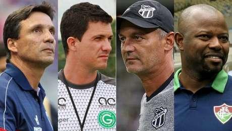 (Fotos: Divulgação/Fábio Lima; Rosiron Rodrigues/Goiás; Divulgação/Ceará; Mailson Santana/Fluminense)