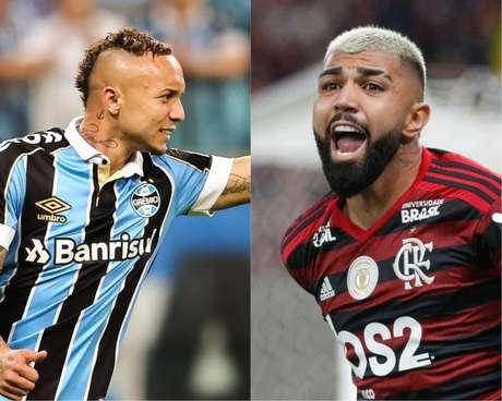 Everton Cebolinha, do Grêmio, e Gabigol, do Flamengo
