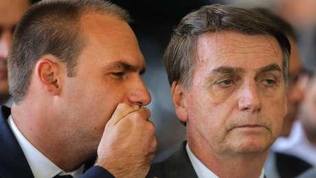 """Eduardo é o terceiro filho de Jair Bolsonaro, que ele chama de """"zero três"""""""
