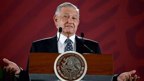 O presidente mexicano López Obrador recebeu agradecimentos de Trump por seu controverso plano de conter a migração