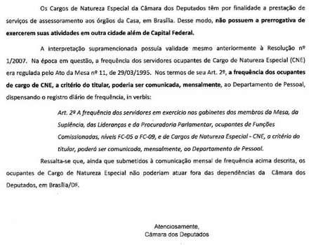 Questionada pela BBC News Brasil, Câmara afirma que ocupação do cargo à distância é uma prática irregular