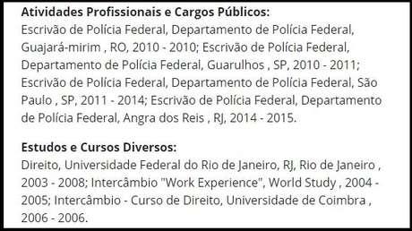 Cargo comissionado não aparece em seu currículo publicado no site da Câmara dos Deputados