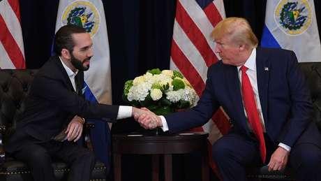 O presidente salvadorenho Bukele elogiou pessoalmente Trump