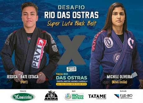 Bate-Estaca e Michele vão estrear a faixa-preta em superluta na Taça Rio em Rio das Ostras (Foto: Divulgação)