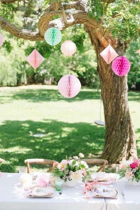 57. Linda decoração romântica para picnic – Foto: Pinterest