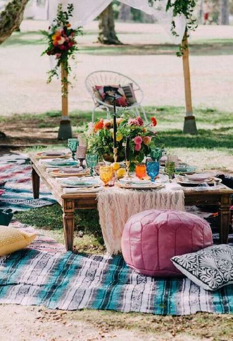 58. Decoração rústica para festa de picnic – Foto: Pinosy