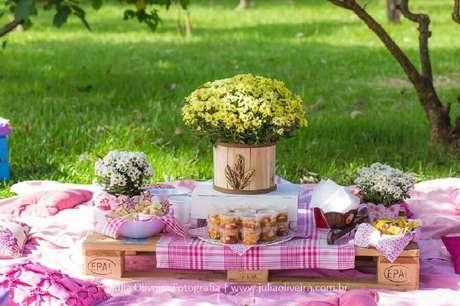 9. Saiba como montar um picnic e tenha um evento inesquecível – Foto: Mamãe Felicidades e Dicas