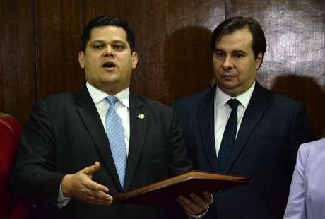 Davi Alcolumbre e Rodrigo Maia.