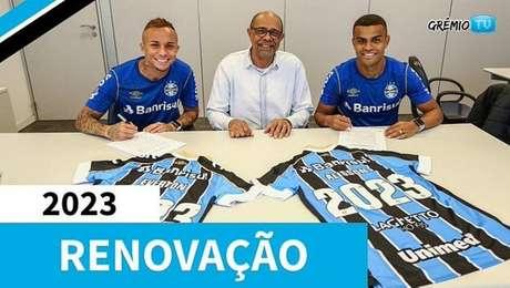 Valorizados, Everton e Alisson renovam contrato com o Grêmio