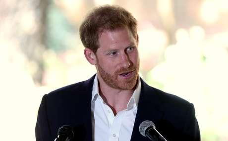 Príncipe Harry fala em evento em Johanesburgo 2/10/2019 REUTERS/Siphiwe Sibeko