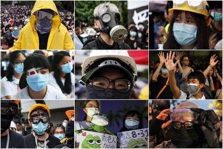 Hong Kong proíbe uso de máscaras em manifestações