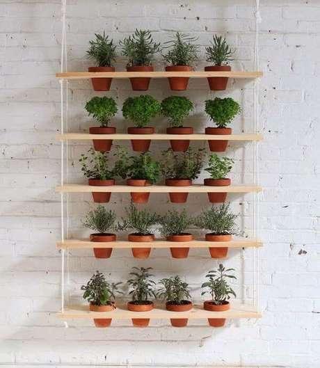44. Suporte para plantas suspenso – Por: Decor Fácil