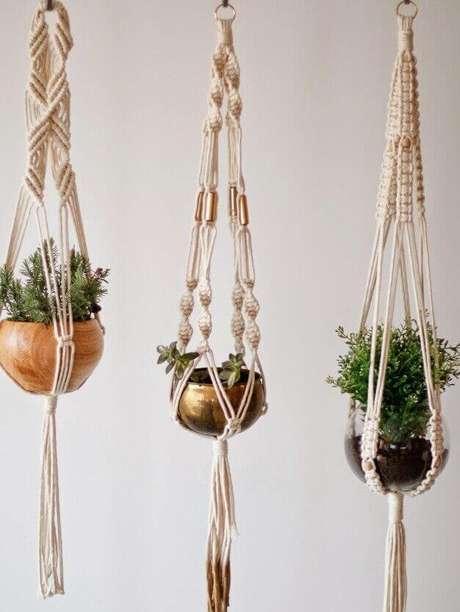 8. Suporte para plantas em macramê – Por: Pinterest