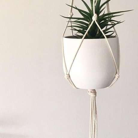 13. Suporte para plantas macramê – Por: Pinterest