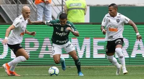 Dudu marcou o gol do Palmeiras (Foto: Divulgação/SEP)