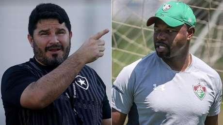 Barroca e Marcão representam a nova geração de técnicos (Fotos: Vitor Silva/Botafogo; Lucas Merçon/Fluminense)