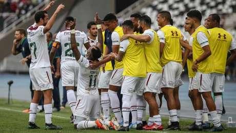 Tricolor jogou bem, aguentou a pressão do Botafogo e foi o vitorioso (Foto: Lucas Merçon/Fluminense)