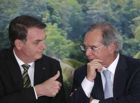 Jair Bolsonaro e Paulo Guedes.