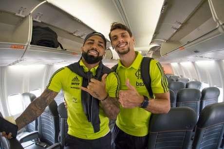 Gabigol e Rodrigo Caio disputarão amistosos pela Seleção (Foto: Alexandre Vidal / Flamengo)