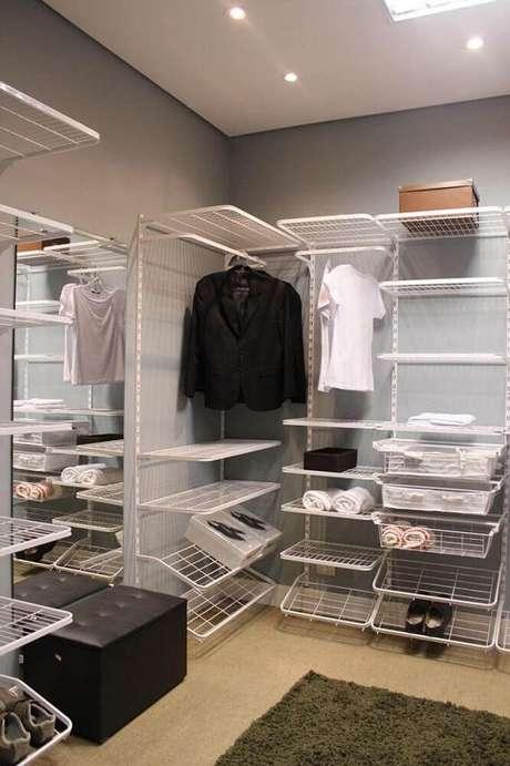 3. É possível conseguir um closet aberto barato. Foto: Viva Decora.