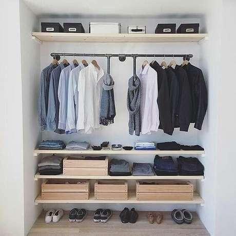 46. Caixotes são grandes amigos do closet aberto. Foto: Instagram
