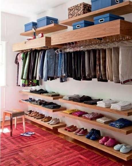 43. O closet aberto deve ser bem cuidado para funcionar. Foto: R7