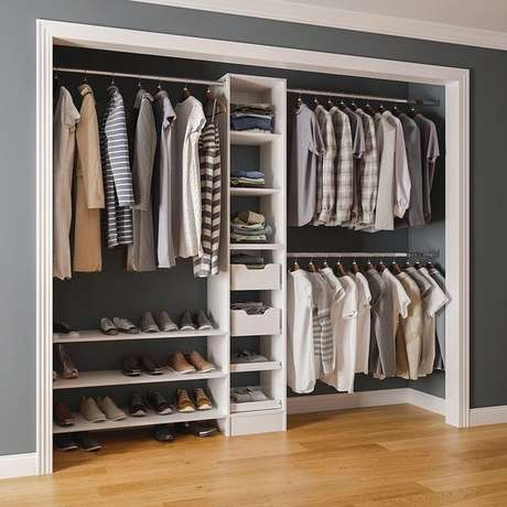 33. Os gaveteiros são importantes para o closet aberto. Foto: Dicas Decor