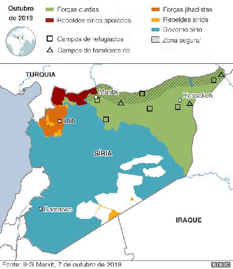 mapa da fronteira Síria-Turquia