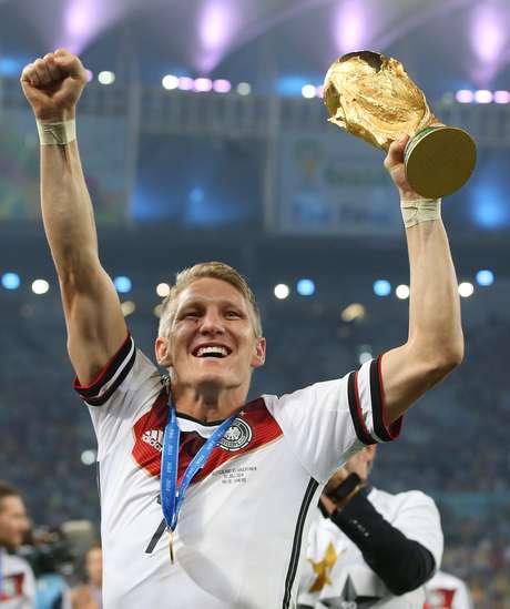 Schweinsteiger foi campeão mundial com a Alemanha em 2014