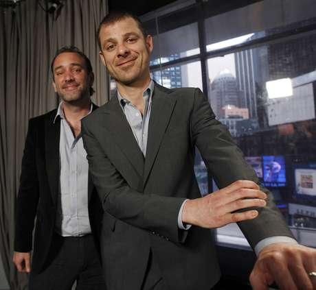 """Criadores de """"South Park"""" Matt Stone e Trey Parker 18/03/2011 REUTERS/Jessica Rinaldi"""